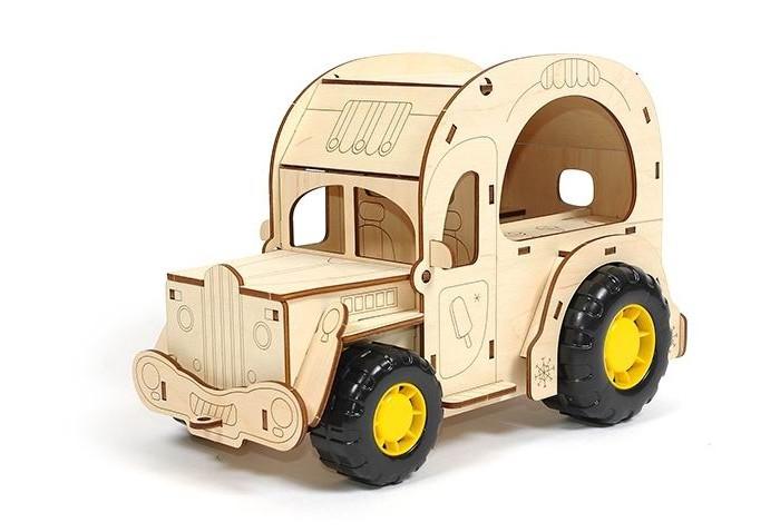 Конструктор Woody Фургон Крем-брюле (36 элементов)Фургон Крем-брюле (36 элементов)Конструктор Фургон Крем-брюле - объемная раскраска и конструктор в одном. Конструктор собирается без клея. Капот и крыша фургона открываются. В набор входят также пластиковые колеса.   Детали удобно и надежно собираются между собой, хорошо поддаются раскрашиванию как красками, так и карандашами и фломастерами.  Игра в конструктор развивает творческие способности, навыки конструирования, усидчивость, воображение.   Состав набора: деревянные элементы 36 шт.  Деревянные игрушки «Вуди» дарят живую энергию натуральных материалов, доброту и улыбки сказочных персонажей, радость познания и удивительные открытия.   В игрушках «Вуди» заложена богатая методическая база для развития детей разного возраста. Каждая игрушка несёт в себе несколько развивающих функций. Любой персонаж, домик, буква или цифра - это оригинальная деревянная раскраска. Игрушки «Вуди» изготавливаются в Беларуси из высокосортной древесины без применения лакокрасочных покрытий, имеют сертификаты качества Беларуси, России, Украины, ЕС.<br>