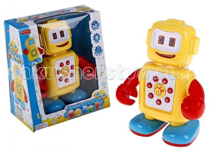 Развивающая игрушка Zhorya Робот со звуком и светом