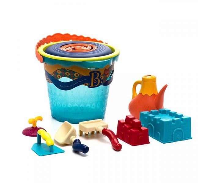 Battat Большое ведерко и игровой набор для песка 10 деталей