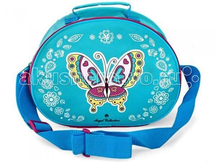 Angel Collection Сумка БабочкаСумка БабочкаСтильная сумка для девочек Angel Collection Бабочки изготовлена из качественных материалов. Имеет большой отсек на молнии и регулируемый ремень через плечо.  Размер сумки: 28 х 10 х 21 см<br>