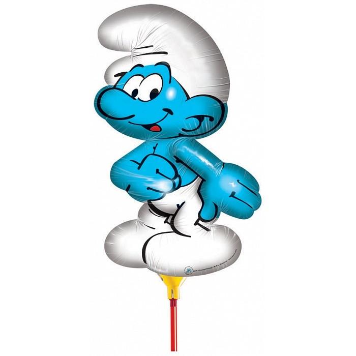 Смурфики Шар фольгированный СмурфШар фольгированный СмурфСмурфики Шар фольгированный Смурф.  Яркий шарик с изображением веселого смурфика украсит любой детский праздник и станет прекрасной игрушкой для малыша.  Фигурный фольгированный шар Смурф имеет высоту 66 см Изделие поставляется не надутым Для надувки не требуется гелий.<br>