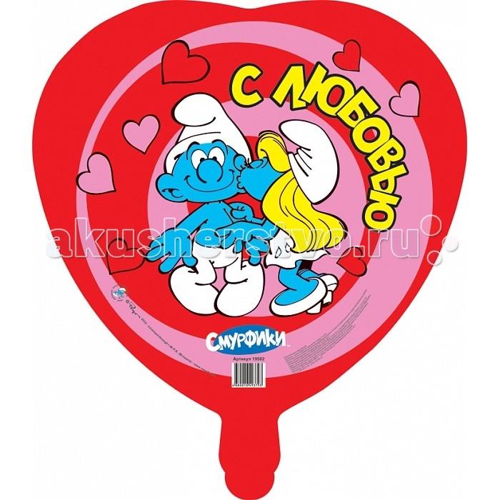 Смурфики Шар фольгированный сердце Влюбленные СмурфикиШар фольгированный сердце Влюбленные СмурфикиСмурфики Шар фольгированный сердце Влюбленные Смурфики.  Фигурный шар в форме сердца Влюбленные смурфики станет ярким украшением интерьера и забавной игрушкой для вашего ребенка. Шар имеет диаметр 46 см, изготовлен из миларовой пленки и надувается гелием.   Изделие поставляется не надутым  Товар сертифицирован.<br>