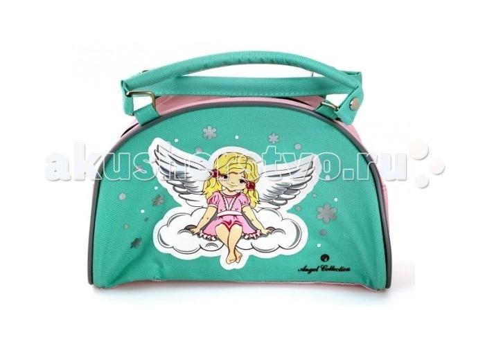 Angel Collection Сумочка АнгелочекСумочка АнгелочекСумка Ангелочек от Angel Collection для девочек изготовлена из качественных материалов, отличается стильным дизайном.   Сумка закрывается на молнию.  Размер сумки: 22 х 9 х 13.5 см<br>