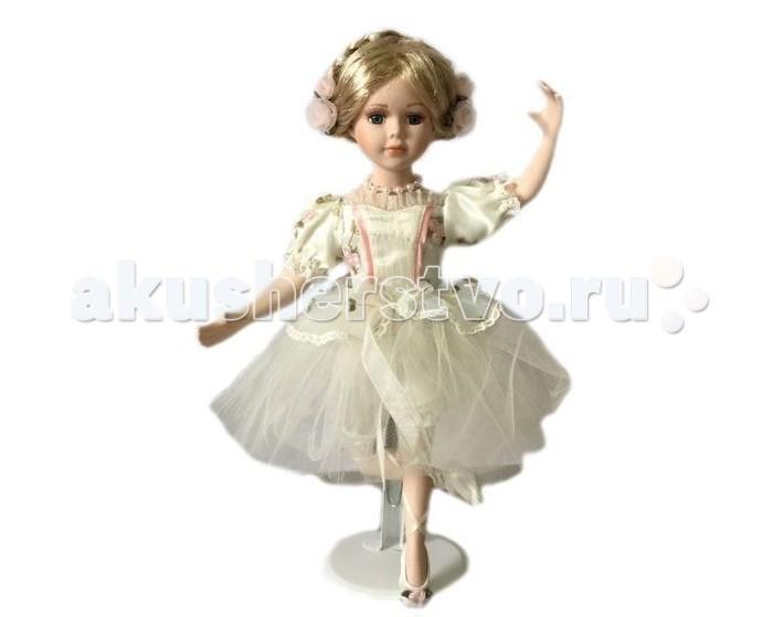 Angel Collection Кукла фарфоровая Балерина в белом платье 14