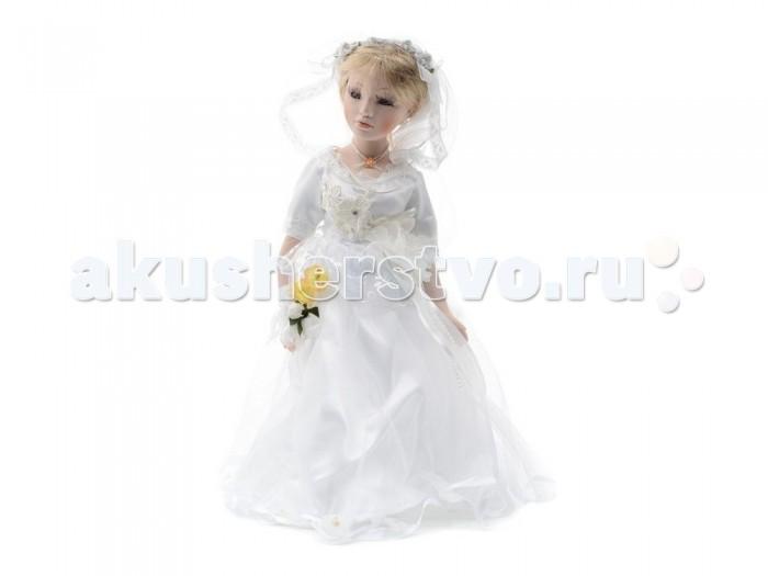 Angel Collection Кукла фарфоровая Невеста 16 40.6 смКукла фарфоровая Невеста 16 40.6 смКаждая кукла, выпущенная в серии Angel Collection, обладает неповторимым образом - принцессы, феи, маленькие девочки, роскошные невесты и т.д. Изысканные наряды и очаровательная матовость фарфора превращают этих кукол в настоящее произведение искусства.   Куклы сделаны из уникальной голубой глины.  Фарфоровая красавица - это не просто игрушка, а также украшение для интерьера или ценный экспонат коллекции.  Высота куклы: 40.6 см<br>
