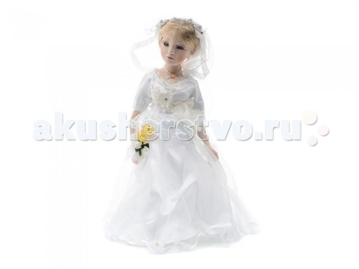 Angel Collection Кукла фарфоровая Невеста 16