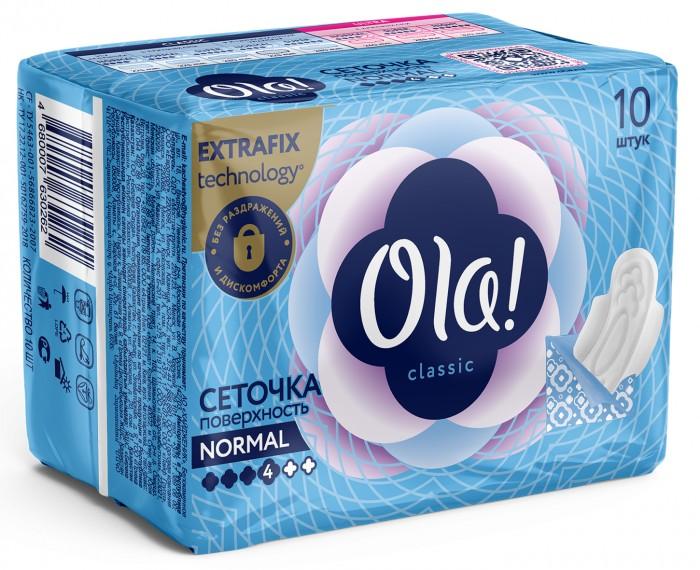 Ola! CLASSIC WINGS SINGLES NORMAL прокладки толстые Поверхность сеточка 10 шт.