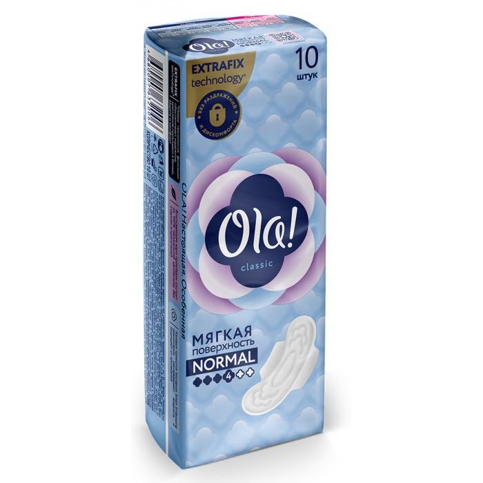 Ola! CLASSIC WINGS NORMAL прокладки толстые Мягкая поверхность 10 шт.