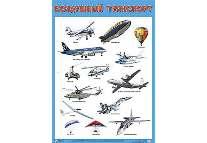 Мозаика-Синтез Обучающий плакат Воздушный транспорт