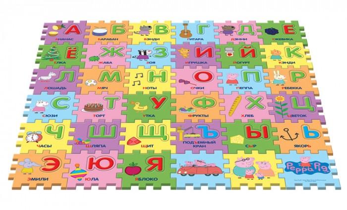 Игровой коврик Peppa Pig Пазл Учим азбуку с Пеппой (36 сегментов)