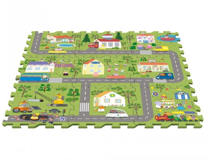 Игровой коврик Peppa Pig Пазл Город Пеппы (9 сегментов)