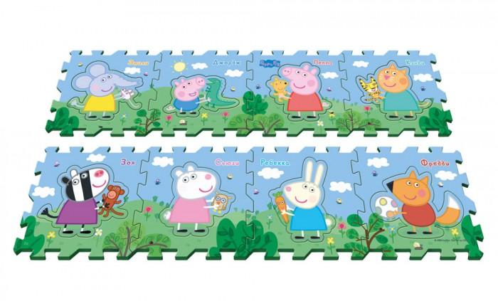 Игровой коврик Peppa Pig Пазл Пеппа и друзья (8 сегментов)