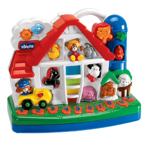 Музыкальная игрушка Chicco Говорящая ферма фр/англ 69649.03.