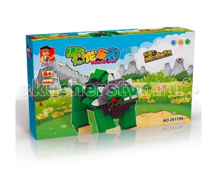 Конструктор Dr.Luck Динозавр (144 детали)Динозавр (144 детали)Конструктор Dr.Luck Динозавр (144 детали) игрушка, которую дети должны собрать самостоятельно. От этого игровой процесс становится еще более увлекательным, ведь ребенок самостоятельно создает себе игрушку из элементов набора.  Игра с фигуркой развивает мелкую моторику рук, фантазию и пространственное мышление.<br>