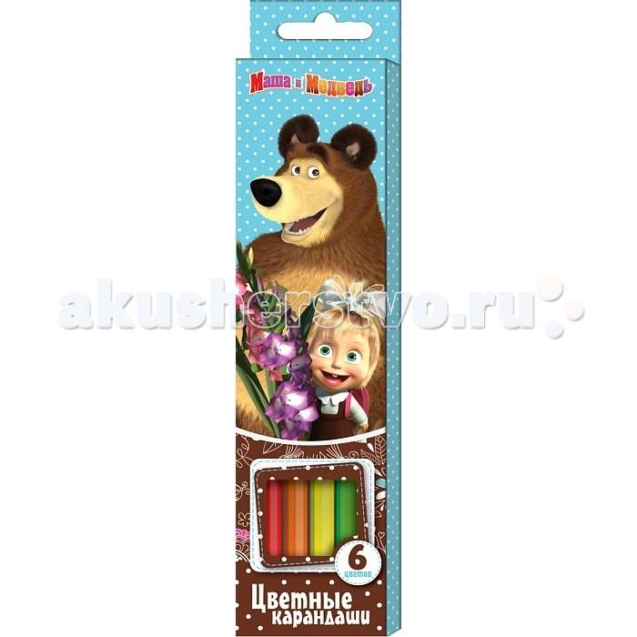 Маша и Медведь Цветные 6 цветов