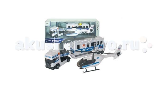 Autotime Набор машина и вертолет Scania TeamНабор машина и вертолет Scania TeamНабор Autotime Scania Team милиция с вертолетом — это коллекционная модель, которая является копией настоящего автомобиля в масштабе 1:48  В замечательный набор полицейского игрушечный входит: машина и вертолет   У машинки открываются двери, двигаются колеса.   Размер вертолета 20 см, машины 28 см.  Специальные эффекты: свет, звук.<br>