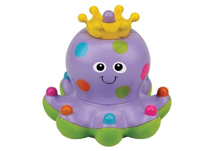 KS Kids Осьминожка КлёпаОсьминожка КлёпаОсьминожка «Клёпа» - игрушка для ванной.   Клёпа Ks Kids – осьминожка королевской породы. Носит корону, его наряд разукрашен «драгоценными каменьями», зверек умеет выпускать фонтанчики.   Игрушка Ks Kids развлекает кроху во время купания.  Размер: 13х12 см.  Батарейки: тип ААА 2 шт (в комплект не входят).<br>