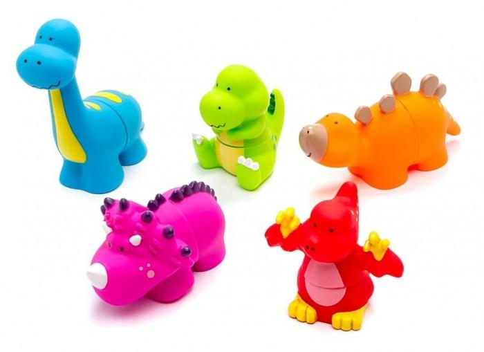 Развивающая игрушка KS Kids Мир динозавровМир динозавровНабор ярких фигурок Мир динозавров бренда Ks Kids перенесет малыша в доисторическую эпоху, позволив ему поиграть с легендарными динозаврами.   В комплекте собраны пять разъемных фигурок разных цветов, каждая из которых стилизована под определенный вид динозавров, имеет уникальный дизайн и индивидуальные особенности.   Игра с набором приведет ребенка в восторг, ведь он сможет создать собственную коллекцию уникальных динозавров.   Для этого потребуется лишь поменять местами хвосты у фигурок.   Все предметы набора изготовлены из мягкого пластика, безвредного для здоровья крохи.<br>
