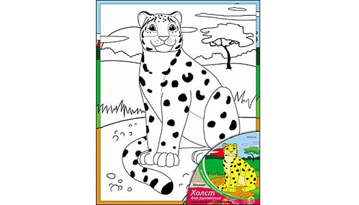 Раскраска Рыжий кот Холст с красками Леопард 20х25 смХолст с красками Леопард 20х25 смРаскраска Рыжий кот Холст с красками Леопард 20х25 см. Перед Вами замечательные наборы для создания уникального шедевра изобразительного искусства.   Создание картин на специально подготовленной рабочей поверхности – это уникальная техника, позволяющая делать Ваши шедевры более яркими и реалистичными. Просто нанесите мазки на уже готовый эскиз и оживите картину! Готовые изделия могут стать украшением интерьера или прекрасным подарком близким и друзьям.  В наборе: 1 холст с эскизом, 7 акриловых красок по 3,5 мл, 1 кисточка.<br>