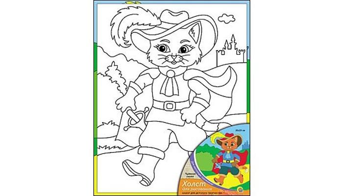 Раскраска Рыжий кот Холст с красками Чудесная сказка 20х25 смХолст с красками Чудесная сказка 20х25 смРаскраска Рыжий кот Холст с красками Чудесная сказка 20х25 см. Перед Вами замечательные наборы для создания уникального шедевра изобразительного искусства.   Создание картин на специально подготовленной рабочей поверхности – это уникальная техника, позволяющая делать Ваши шедевры более яркими и реалистичными. Просто нанесите мазки на уже готовый эскиз и оживите картину! Готовые изделия могут стать украшением интерьера или прекрасным подарком близким и друзьям.  В наборе: 1 холст с эскизом, 7 акриловых красок по 3,5 мл, 1 кисточка.<br>
