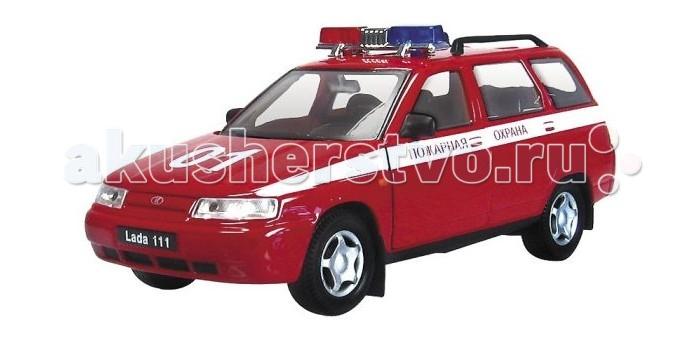 Autotime Машина Лада 111 пожарная охранаМашина Лада 111 пожарная охранаМашина Autotime Лада 111 пожарная охрана — это коллекционная модель, которая является копией настоящего автомобиля в масштабе 1:34/39.  Она изготовлена из металла с элементами пластика.   У машинки открываются двери, двигаются колеса.   На крыше авто установлена мигалка. Салон модели также проработан очень детально, что видно и по установленным внутри креслам, и по рулевому колесу.<br>