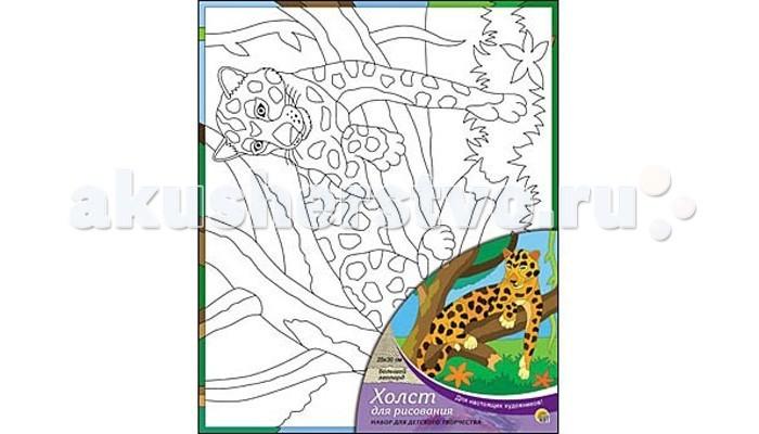 Раскраска Рыжий кот Холст с краскамим Большой леопард 25х30 смХолст с краскамим Большой леопард 25х30 смРаскраска Рыжий кот Холст с краскамим Большой леопард 25х30 см. Перед Вами замечательные наборы для создания уникального шедевра изобразительного искусства.   Создание картин на специально подготовленной рабочей поверхности – это уникальная техника, позволяющая делать Ваши шедевры более яркими и реалистичными. Просто нанесите мазки на уже готовый эскиз и оживите картину! Готовые изделия могут стать украшением интерьера или прекрасным подарком близким и друзьям.  В наборе: 1 холст с эскизом, 7 акриловых красок по 3,5 мл, 1 кисточка.<br>