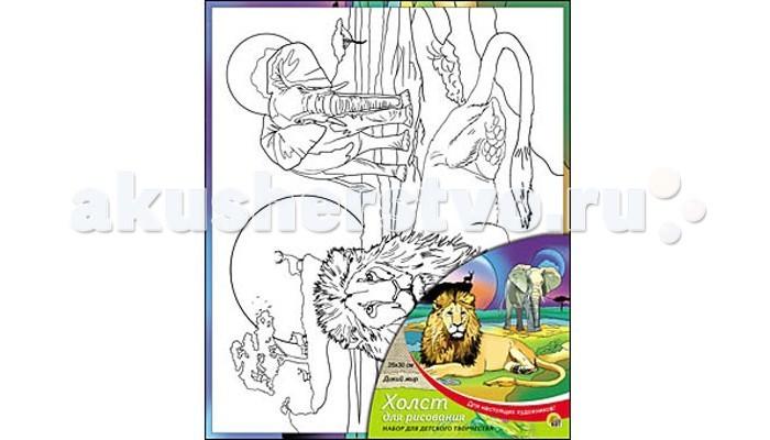 Раскраска Рыжий кот Холст с красками Дикий мир 25х30 смХолст с красками Дикий мир 25х30 смРаскраска Рыжий кот Холст с красками Дикий мир 25х30 см. Перед Вами замечательные наборы для создания уникального шедевра изобразительного искусства.   Создание картин на специально подготовленной рабочей поверхности – это уникальная техника, позволяющая делать Ваши шедевры более яркими и реалистичными. Просто нанесите мазки на уже готовый эскиз и оживите картину! Готовые изделия могут стать украшением интерьера или прекрасным подарком близким и друзьям.  В наборе: 1 холст с эскизом, 7 акриловых красок по 3,5 мл, 1 кисточка.<br>