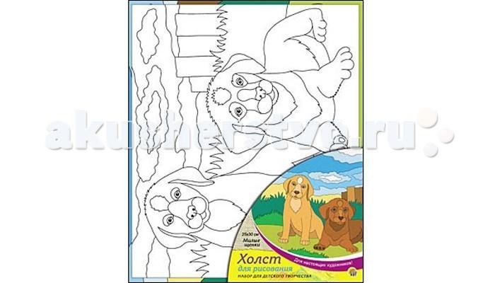 Раскраска Рыжий кот Холст с красками Милые щенки 25х30 смХолст с красками Милые щенки 25х30 смРаскраска Рыжий кот Холст с красками Милые щенки 25х30 см. Перед Вами замечательные наборы для создания уникального шедевра изобразительного искусства.   Создание картин на специально подготовленной рабочей поверхности – это уникальная техника, позволяющая делать Ваши шедевры более яркими и реалистичными. Просто нанесите мазки на уже готовый эскиз и оживите картину! Готовые изделия могут стать украшением интерьера или прекрасным подарком близким и друзьям.  В наборе: 1 холст с эскизом, 7 акриловых красок по 3,5 мл, 1 кисточка.<br>
