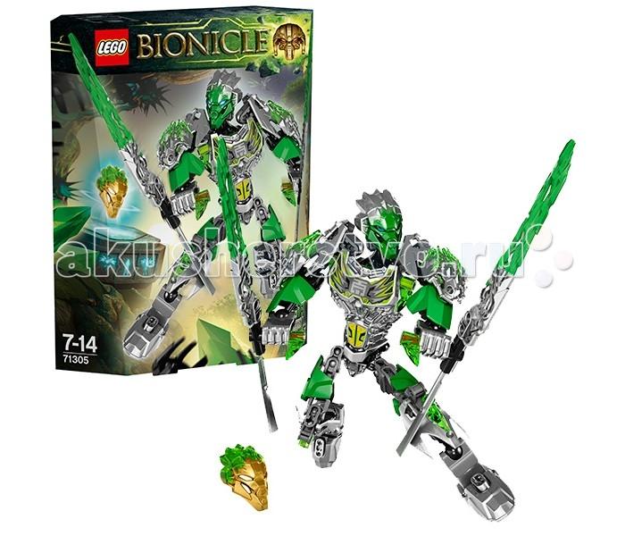 Конструктор Lego Bionicle 71305 Лего Бионикл Лева Объединитель ДжунглейBionicle 71305 Лего Бионикл Лева Объединитель ДжунглейКонструктор Lego Bionicle 71305 Лего Бионикл Лева - Объединитель Джунглей  Бионикл Лева - Повелитель Джунглей - энергичный авантюрист. Он всегда находится в поисках новых приключений и не любит сидеть на одном месте. Кроме того, Лева - настоящий бунтарь. С ним точно не заскучаешь, но, с другой стороны, его поступки часто приводят к новым проблемам. Впрочем, Лева в состоянии их решить!  У новых Лего Бионикл 2016 обновился дизайн, и Лева не исключение. Его броня стала более фактурной и изящной, теперь она покрыта рунами. Кроме того, в ней появились элементы с прозрачными деталями, будто дух самих Джунглей сплетается с металлом. Оружие Левы, также, двухцветное, как и его маска. К слову, она отличается от той, что была у героя в предыдущей серии Lego Bionicle. В комплект входит Золотая Маска стихии.  В новой версии Левы добавились новые функции - фигурка все также подвижна, но теперь у нее может поворачиваться еще и корпус. Сзади расположен механизм объединения - бионикла можно соединить с любым тотемным животным, сделав его сильнее и эффектнее.  В комплекте: Двухцветная Маска Джунглей Двухцветная золотая Маска Джунглей Оружие Стихии с прозрачным лезвием Биоброня — нагрудник (с древними рунами) Функция объединения на спине Вращающийся торс для участия в битве Комбинируется с Уксаром и другими тотемными животными   Количество деталей: 79 шт.<br>