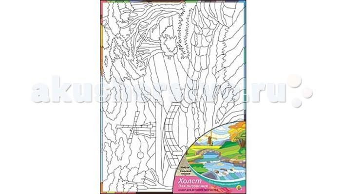Раскраска Рыжий кот Холст с красками Сельский пейзаж 30х40 смХолст с красками Сельский пейзаж 30х40 смРаскраска Рыжий кот Холст с красками Сельский пейзаж 30х40 см. Перед Вами замечательные наборы для создания уникального шедевра изобразительного искусства.   Создание картин на специально подготовленной рабочей поверхности – это уникальная техника, позволяющая делать Ваши шедевры более яркими и реалистичными. Просто нанесите мазки на уже готовый эскиз и оживите картину! Готовые изделия могут стать украшением интерьера или прекрасным подарком близким и друзьям.  В наборе: 1 холст с эскизом, 16 акриловых красок по 3,5 мл, 1 кисточка.<br>