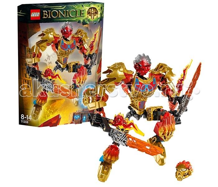 Конструктор Lego Bionicle 71308 Лего Бионикл Таху Объединитель ОгняBionicle 71308 Лего Бионикл Таху Объединитель ОгняКонструктор Lego Bionicle 71308 Лего Бионикл Таху - Объединитель Огня  Бионикл Таху - Объединитель Огня. Он путешествует среди вулканов и потоков лавы, чтобы найти тотемное животные и стать сильнее, объединившись с ним. Таху стал лидером героев Тоа, потому что он очень энергичный и храбрый. Сам себя Таху считает самым отважным, при этом он обладает весьма вспыльчивым характером.  На Таху из серии Lego Bionicle 2016 надета новая био-броня Огня. Она прекрасно детализирована и выглядит очень красиво. Сама броня позолоченная, но присутствуют и прозрачные красные элементы, будто перетекающие внутри одной детали брони. Оружие Таху - два меча с прозрачными лезвиями Стихии, рядом с которыми вырываются языки пламени. На Таху надета двухцветная маска стихий, еще одна маска входит в комплект - Золотая. Бионикл можно объединить с любым тотемным животным.  В комплекте: Двухцветная Маска Стихии Двухцветная золотая Маска Стихии Оружие Стихии - две клинка с прозрачными лезвиями и языками пламени Биоброня Стихии — нагрудник с принтами и древними рунами Функция объединения на спине Функция вращения торса (колесико сзади) Комбинируется с Икиром и другими тотемными животными   Количество деталей: 132 шт.<br>