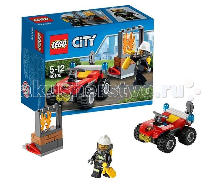 Конструктор Lego City 60105 Лего Город Пожарный квадроцикл