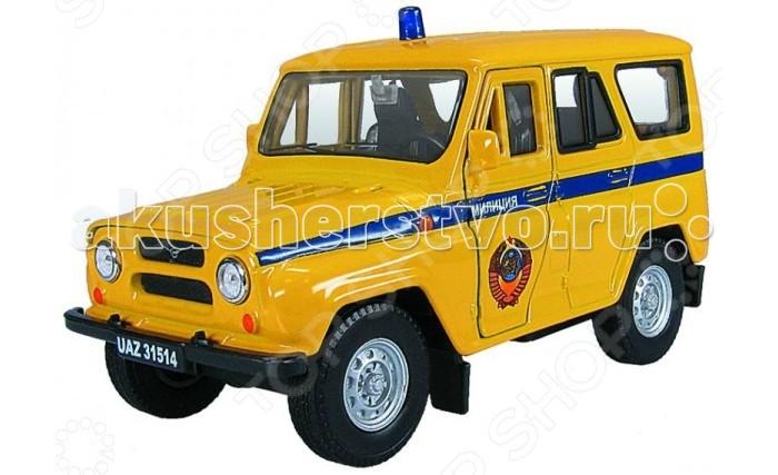 Autotime Машина УАЗ-31514 Советская милицияМашина УАЗ-31514 Советская милицияМашина Autotime УАЗ-31514 Советская милиция — это коллекционная модель, которая является копией настоящего автомобиля в масштабе 1:43  Она изготовлена из металла с элементами пластика.   У машинки открываются двери, двигаются колеса.<br>