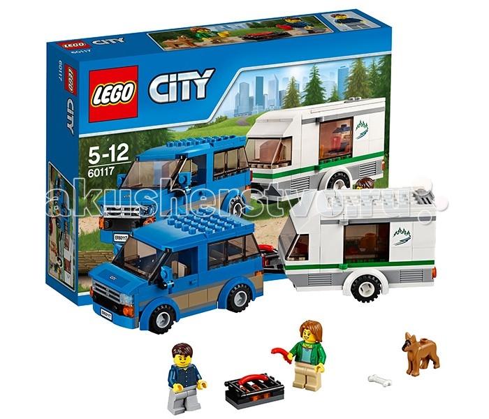 Конструктор Lego City 60117 Лего Город Фургон и дом на колёсах