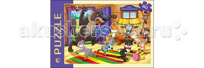 Рыжий кот Пазлы Волк и семеро козлят (60 элементов)Пазлы Волк и семеро козлят (60 элементов)Рыжий кот Пазлы Волк и семеро козлят (60 элементов). Популярная занимательная игра, которая развивает мелкую моторику рук, память, внимание посредством собирания яркой и красочной картинки, состоящей из мелких деталей. Огромное разнообразие изображений никого не оставит равнодушным!<br>