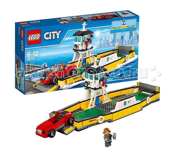Конструктор Lego City 60119 Лего Город ПаромCity 60119 Лего Город ПаромКонструктор Lego City 60119 Лего Город Паром   Для перевозки автомобиля через широкую реку, лучше всего воспользоваться паромом из набора Лего 60119. Его удлинённый корпус выполнен из жёлтых деталей с добавлением контрастных чёрных полос. Два симметричных длинных борта оборудованы спасательными кругами, а два коротких - способны опускаться и трансформироваться в удобные пандусы для въезда и выезда.   Вместительная палуба предназначена для транспортировки нескольких пассажиров и их легковых транспортных средств. Все погрузочные работы осуществляются только под пристальным вниманием паромщика. Его смотровая вышка, надёжно закреплённая на одном из бортов, напоминает капитанский мостик.   Здесь есть удобное кресло, рычаги управления, навигационные огни, прожектор для работы в тёмное время суток и множество окон, дающих максимальный обзор. За день паром осуществляет множество рейсов, что очень удобно для бизнесменов, отправляющихся в командировки на своих личных автомобилях.  Размер парома в собранном виде составляет 16х34х13 см, размер автомобиля – 4х10х4 см.  Также в наборе присутствуют 2 минифигурки с аксессуарами: паромщик и хозяйка легкового автомобиля.  Количество деталей: 301 шт.<br>