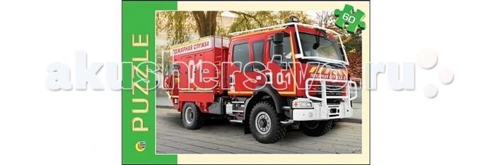 Рыжий кот Пазлы Пожарная машина (60 элементов)