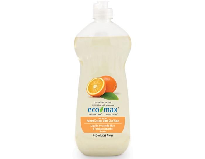 Eco-Max Средство для мытья посуды Апельсин 740 млСредство для мытья посуды Апельсин 740 млEco-Max Средство для мытья посуды - Апельсин Natural Orange Ultra Dish Wash cодержит алоэ вера, обладающее увлажняющими и заживляющими свойствами. Натуральное эфирное масло апельсина придаёт свежий и приятный аромат.  Способ применения: Для ежедневного мытья посуды нанести средство непосредственно на посуду и мыть тёплой водой с помощью губки или ткани. Затем смыть чистой водой.  Для сильно загрязнённой или жирной посуды: наполнить раковину тёплой водой, добавить в воду моющее средство, а потом погрузить посуду в раковину. Оставить на некоторое время, чтобы легче отмыть грязь и жир, затем промыть посуду чистой тёплой водой.  Не использовать в автоматических посудомоечных машинах.  Хранить в недоступном для детей месте.  Состав: Вода, ПАВ растительного происхождения, соль, пищевая лимонная кислота (из плодов лимона), растительный экстракт алоэ вера, натуральное эфирное масло апельсина и пищевой сорбат калия в качестве консерванта.<br>