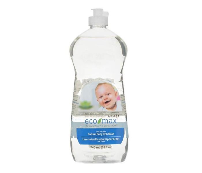 Eco-Max Средство для мытья детской посуды 740 млСредство для мытья детской посуды 740 млEco-Max Средство для мытья детской посуды Natural Baby Dish Wash with Aloe Vera   Натуральное гипоаллергенное средство без запаха, на 100% растительной основе, полностью биоразлагаемое. Средство безопасно для кожи рук и прекрасно подходит для мытья детских бутылочек, чашек, сосок, молокоотсосов и т.д.  Способ применения: Нанести средство непосредственно на посуду и мыть тёплой водой с помощью губки или ткани. Затем смыть чистой водой.  Не использовать в автоматических посудомоечных машинах.  Хранить в недоступном для детей месте.  Состав: Вода, ПАВ растительного происхождения, пищевая соль, пищевой цитрат натрия, пищевая лимонная кислота, растительный экстракт алоэ вера, пищевой сорбат калия.  Не тестируется на животных. Не содержит ингредиентов животного происхождения.<br>