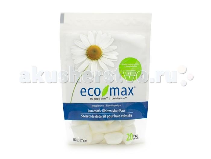 Eco-Max Гипоаллергенные капсулы для посудомоечной машины 20 шт.Гипоаллергенные капсулы для посудомоечной машины 20 шт.Eco-Max Гипоаллергенные капсулы для посудомоечной машины Hypoallergenic Automatic Dishwasher Pacs  Натуральный гипоаллергенный порошок Eco Max для мытья посуды - прорыв в зеленой технологии очистки, использующей активные чистящие свойства ингредиентов, полученных из биоразлагаемых и возобновляемых растительных источников.   Без запаха. Без следов на посуде. Придает блеск.  Способ применения: Поместить один пакетик в ёмкость для порошка в посудомоечную машину. Далее следовать инструкции для машины.  Хранить в недоступном для детей месте.  Состав: натрия цитрат, натрия карбонат, перкарбонат, аспаргиновая кислота, натрия силикат, ПАВ, лимонная кислота, протеаза, амилаза, поливиниловый спирт.  Количество: 20 капсул по 18 г каждая.<br>