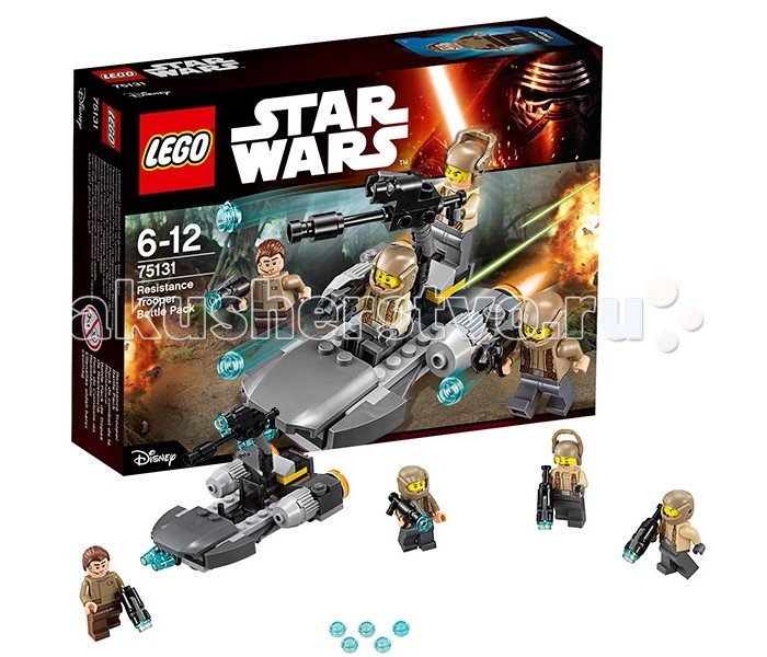 Конструктор Lego Star Wars 75131 Лего Звездные Войны Боевой набор Сопротивления