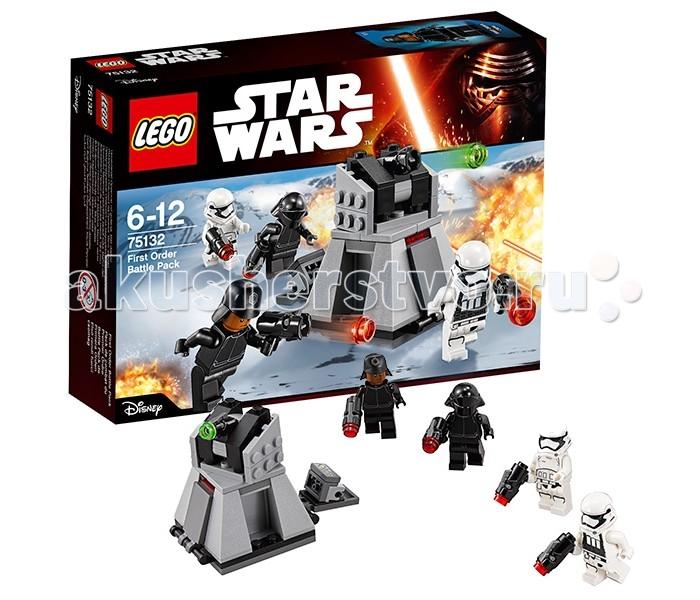 Конструктор Lego Star Wars 75132 Лего Звездные Войны Боевой набор Первого ОрденаStar Wars 75132 Лего Звездные Войны Боевой набор Первого ОрденаКонструктор Lego Star Wars 75132 Лего Звездные Войны Боевой набор Первого Ордена   Турболазерная турель, используемая военными силами Первого Ордена, была очень эффективным средством борьбы с вражеской пехотой. Внешне она напоминала трапециевидную платформу, покрытую серыми бронированными пластинами.   В зависимости от назначения платформы могли быть или усиленными, способными выдержать прицельный огонь противника, или полыми. Второй вид орудий обладал откидывающимися боковыми панелями, за которыми крепились сенсоры, датчики, дополнительная панель управления или дистанционный взрыватель. Верхняя часть платформы представляла собой пушку, соединённую с вращающейся осью.   Поворачиваясь на 180&#186;, а также поднимая и опуская прицел, пушка вела обстрел не только наземной техники, но и низколетящих истребителей Сопротивления. Кроме того, из-за наличия надёжной брони, корпус установки мог быть использован вместо щита или укрытия.  В наборе Лего 75132 Вы найдёте детали для создания турболазера Первого Ордена, а также 4 минифигурки с оружием и бронёй.  Размер турели в собранном виде составляет 6х6х4 см.  Количество деталей: 88 шт.<br>