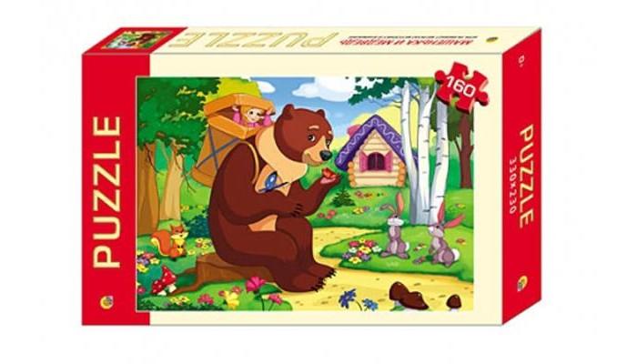 Рыжий кот Пазлы Маша и медведь (160 элементов)Пазлы Маша и медведь (160 элементов)Рыжий кот Пазлы Маша и медведь (160 элементов). Популярная занимательная игра, которая развивает мелкую моторику рук, память, внимание посредством собирания яркой и красочной картинки, состоящей из мелких деталей. Огромное разнообразие изображений никого не оставит равнодушным!<br>