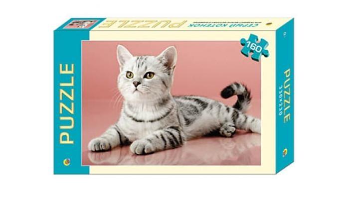 Рыжий кот Пазлы Серый котёнок (160 элементов)Пазлы Серый котёнок (160 элементов)Рыжий кот Пазлы Серый котёнок (160 элементов). Популярная занимательная игра, которая развивает мелкую моторику рук, память, внимание посредством собирания яркой и красочной картинки, состоящей из мелких деталей. Огромное разнообразие изображений никого не оставит равнодушным!<br>