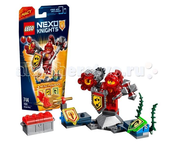 Конструктор Lego Nexo Knights 70331 Лего Нексо Мэйси Абсолютная силаNexo Knights 70331 Лего Нексо Мэйси Абсолютная силаКонструктор Lego Nexo Knights 70331 Лего Нексо Мэйси – Абсолютная сила   Принцесса Мэйси не любит оставаться в стороне, когда к границам её Королевства подбираются лавовые монстры. Облачившись в непробиваемую броню и прихватив с собой увесистую булаву, она смело рвётся в бой, чтобы доказать всем, что она тоже достойна носить звание рыцаря. Теперь, благодаря щитам с Нексо Силами, Мэйси сможет завладеть новыми видами оружия, дающими Абсолютную силу.   «Железный дождь» активирует шестизарядную пушку с красными боеприпасами. Пушка легко крепится к броне принцессы и позволяет вести прицельный огонь по противнику. Если кого-нибудь из монстров нужно взять в плен, то лучше всего воспользоваться щитом «Драконьи джунгли». Он создаёт множество цепких лиан и меняет цвет патронов в пушке. Третий щит «Пламя Феникса» подарит своему обладателю обоюдоострый топор с языками пламени, который обязательно пригодится в ближнем бою.  Высота Мэйси с оружием и подставкой – 9 см.  В наборе Лего 70331 присутствует минифигурка Мэйси с бронёй и булавой, а также 3 щита для сканирования с Нексо Силами, шестизарядная пушка, 6 красных снарядов, 6 зелёных снарядов, сундук для хранения боеприпасов и золотой топор Феникса.   Количество деталей: 101 шт.<br>
