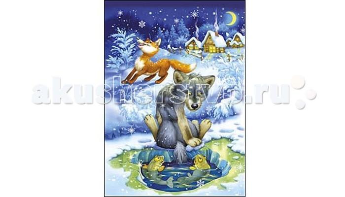 Рыжий кот Пазлы Изолон Волк и лиса формат А4 (24 элемента)