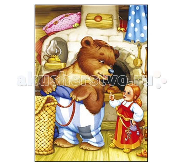 Рыжий кот Пазлы Изолон Маша и медведь формат А4 (24 элемента)