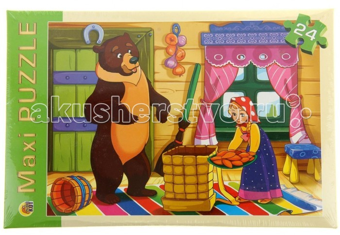 Рыжий кот Макси-пазлы Маша и медведь (24 элемента)