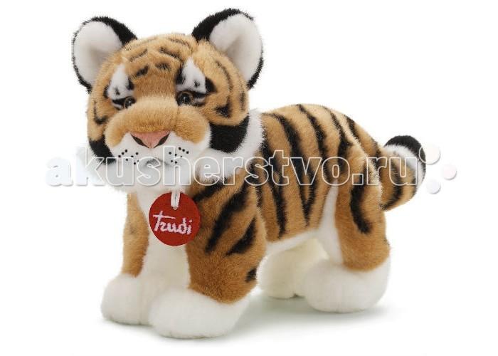 Мягкая игрушка Trudi Тигр Саша 26 смТигр Саша 26 смМягкая игрушка Trudi Тигр Саша 26 см. Тигр Саша еще совсем мал, он нуждается в заботливом хозяине и верном друге. Возьмите этого полосатого зверя к себе домой. Обнимите тигра, чтобы ощутить мягкость его шерстки, изготовленной из высококачественного плюша, характерного для всех игрушек Trudi.  Плюшевый тигр выглядит очень реалистично благодаря натуралистичной окраска и отлично переданной грация, свойственной представителям семейства кошачьих.  Эта игрушка очень прочная. Вы можете очищать Тигра Сашу в режиме автоматической стирки при температуре 30 градусов без ущерба для формы и цвета игрушки.  Высота игрушки: 26 см<br>