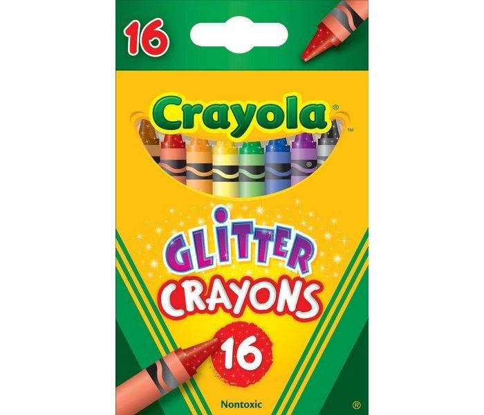 Crayola восковые с блестками 16 шт.